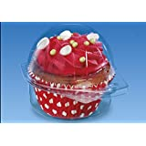 50 pcs Plastic Disposable Clear BOX - Ice Cream Muffin Cupcake Food - 2200