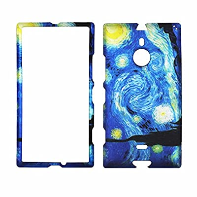 2D Blue Design Nokia Lumia 1520 AT&T Case Cover Hard Phone Case Snap-on Cover Rubberized Touch Faceplates by wirelesspulse