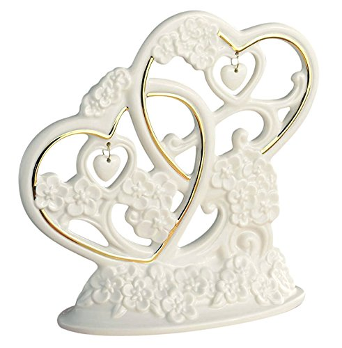 Heart Lenox (Lenox Wedding Cake Topper Floating Hearts Intertwined And Sculpted Heart Charms New In Box)
