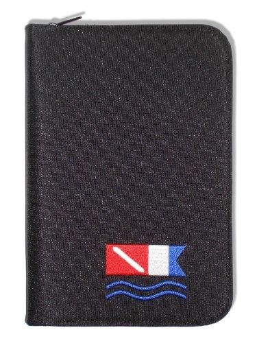 Innovative Scuba Concepts Scuba Diving Log Book - Black with Diver Down Alpha Flag Design