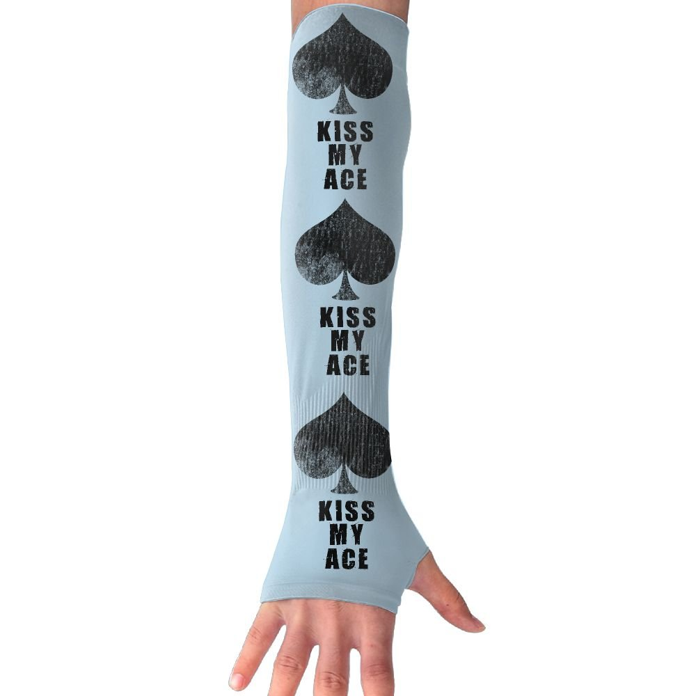 Cool Kiss Ace Poker Unisex Protection Hand Cover Arm Sleeves Cool Cover Sun For Outdoor Activities 1 Pair