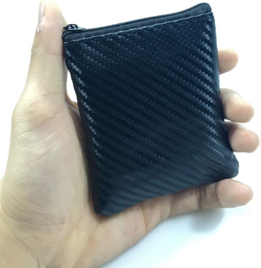 UNWSTYU Portamonete Portafoglio Donne Uomini In Pelle Portamonete Portafoglio Chiave Portafoglio In Fibra Di Carbonio Mini Borsa Cerniera Piccola Borsa Cambio