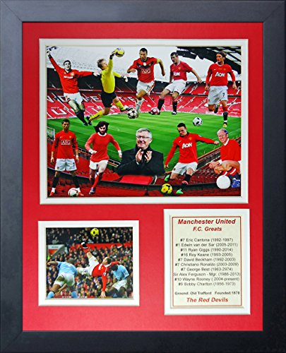 Legends Never Die Manchester United FC Greats Collage Photo Frame, 11