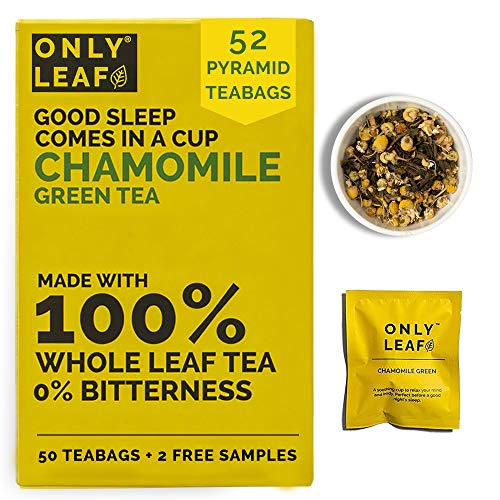 ONLYLEAF Chamomile Green Tea For Stress Relief & Good Sleep