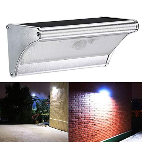 (AkoMatial Solar Powered Outdoor Waterproof Arc-Shaped Motion Sensor 38 LED Garden Porch Garage Street Light Wall Mount Lamp - 38 LED)