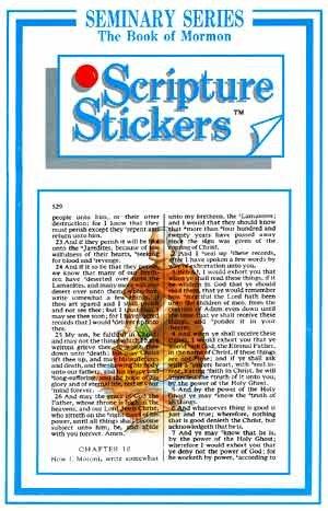 LDS Peel & Stick Book of Mormon Seminary Scripture Mastery Scripture Stickers -