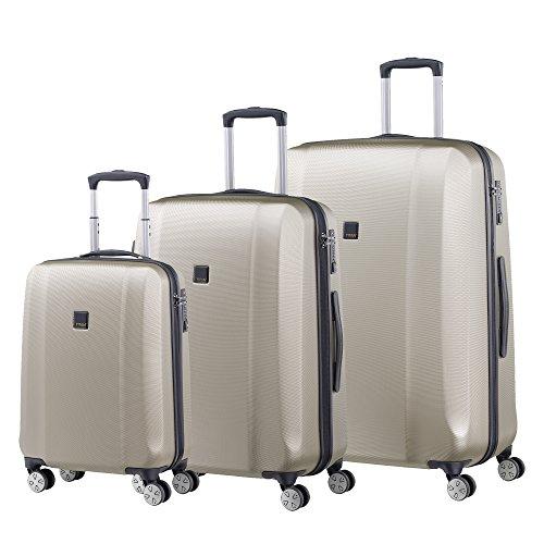 Titan Xenon Hardshell 3 Piece Spinner Luggage Set, Champagne