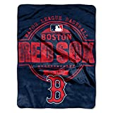 """MLB Boston Red Sox """"Structure"""" Micro-Raschel Throw, Red, 46 x 60-Inch"""
