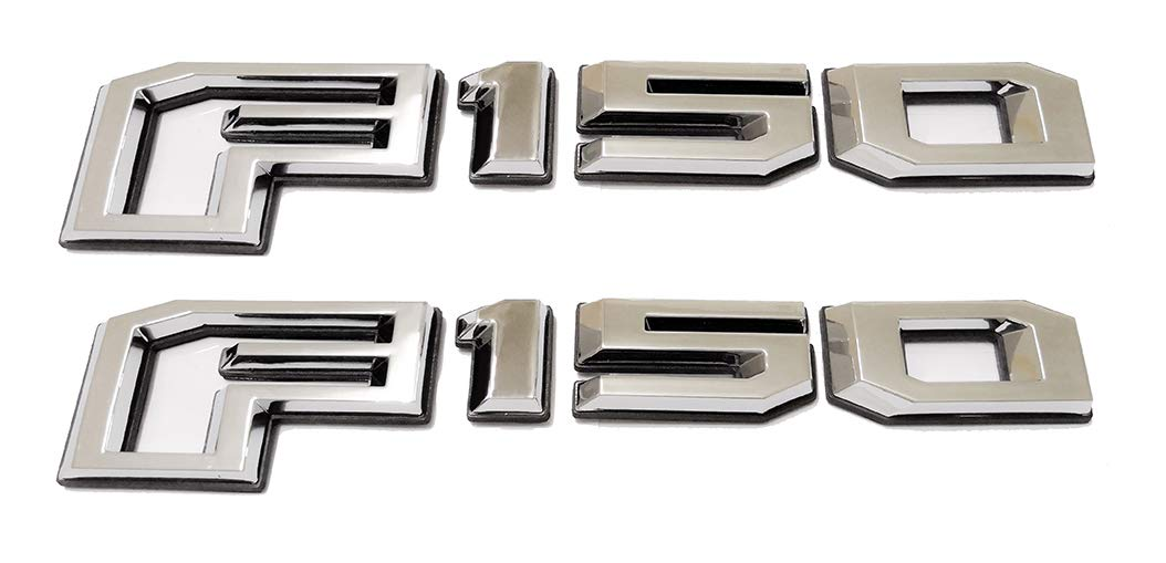 2pcs 2015-2018 F150 Rear Tailgate Emblems Badge 3D Nameplate Replacement for F-150 FL3Z-9942528-C Chrome