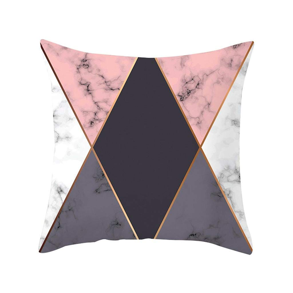 Pet1997 Multicolor Geometric Marble Texture Throw Pillow Case, Super Soft Pillowcase, Cushion Cover, Sofa Home Decor, Luxury Bedding,18 X18 Inch (D)