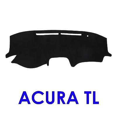JIAKANUO Auto Car Dashboard Carpet Dash Board Cover Mat Fit Acura TL 2004-2008 (Black MR-002): Automotive