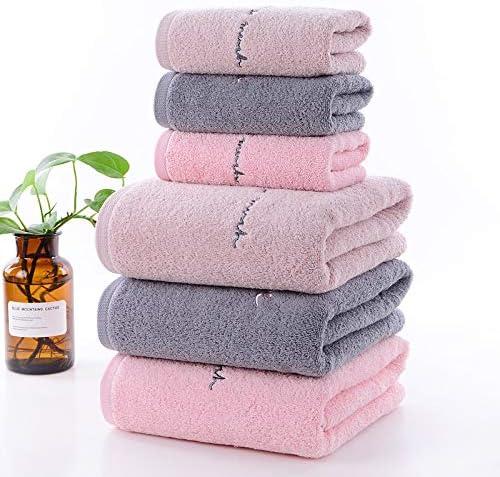 SN86NS Nuevo Conjunto de 6 Piezas Juego de Toallas de algodón para Adulto Mano 3pcs Toalla Toalla de baño de 3 Piezas Camping Ducha Toallas Baño: Amazon.es: Hogar