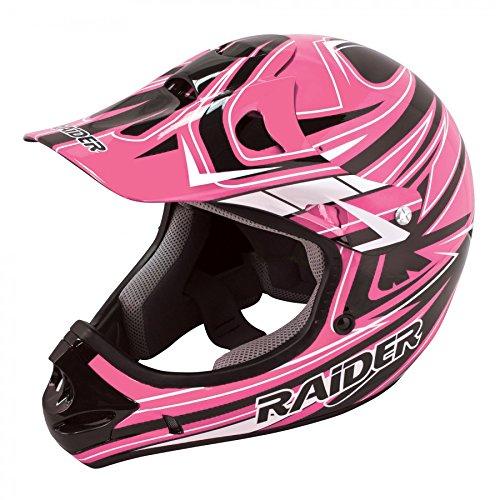Raider Adult Rush MX Women's Helmet (Pink, (Raider Atv Helmets)