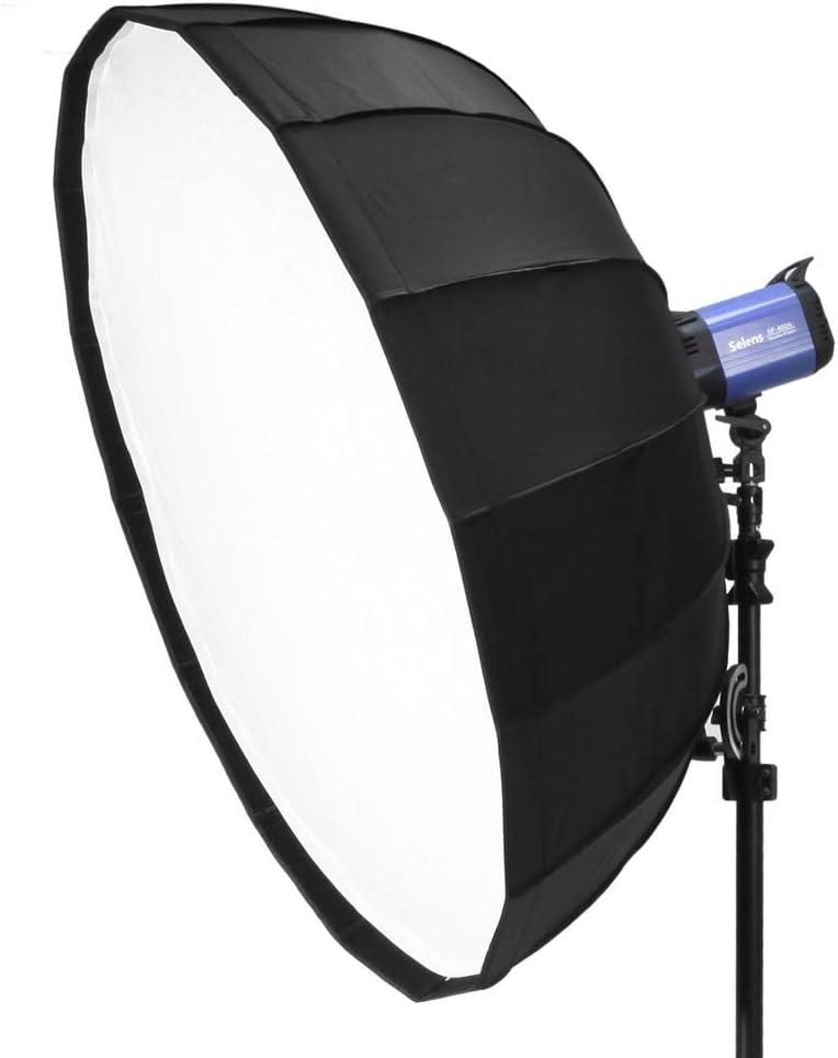 MDFGHJD Selens 65Cm Diffuser Reflector Parabolic Umbrella Beauty Dish Softbox for Off-Camera Flash Fotografia Light Box Carrying Bag