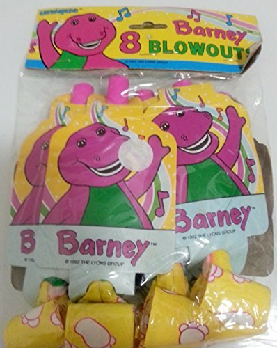 Barney Party Blowouts Birthday Baby Boop Decoration Favors Treats x8