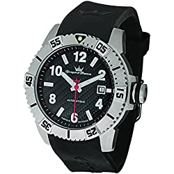 Yonger & Bresson Men's YBH 8319-01 Black dial watch.