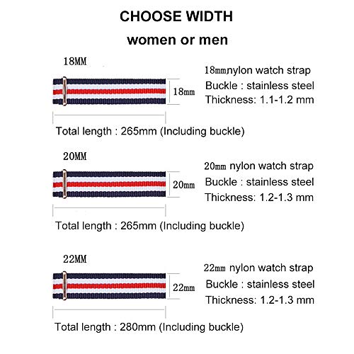 4e3b1cc31 Carty NATO Strap 6 Packs 18mm 20mm 22mm Watch Band Nylon Replacement Watch  Straps for Men Women