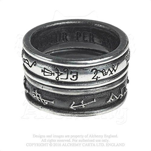 Silver Ring Of The Seven Traditional Angels