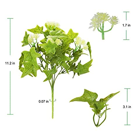 Artificial Greenery Makes The Environment More Lively 6pcs Artificial Plants Often Used in Farmhouse Decor and Artificial Outdoor Plants Decor The Bloom Times