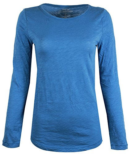 - GAP Women's Long Sleeve Crewneck T-Shirt (XXL, Blue)