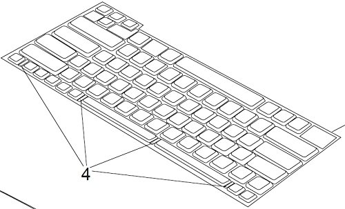HP Digital Sender 9200c Keyboard Assembly, w/o frame, Digital Sender9250c CB472-60160 by HP