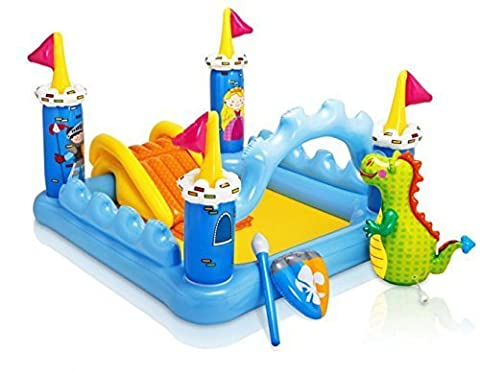 Intex Inflatable Childs Fantasy Castle Play Centre Paddling Pool (Intex Fantasy Castle Play Center)
