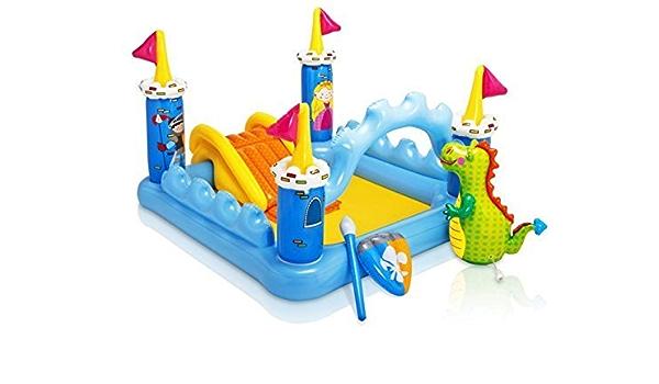 Intex - Piscina hinchable para niños, diseño de castillo de fantasía: Amazon.es: Deportes y aire libre