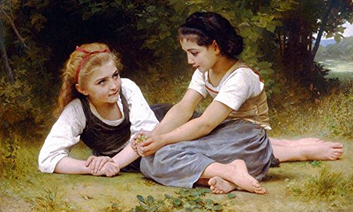Alonline Art - The Nut Gatherers William Bouguereau VINYL STICKER DECAL 27