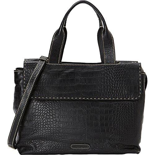 HIDESIGN Women's Leather Laptop Work Bag, Black ()