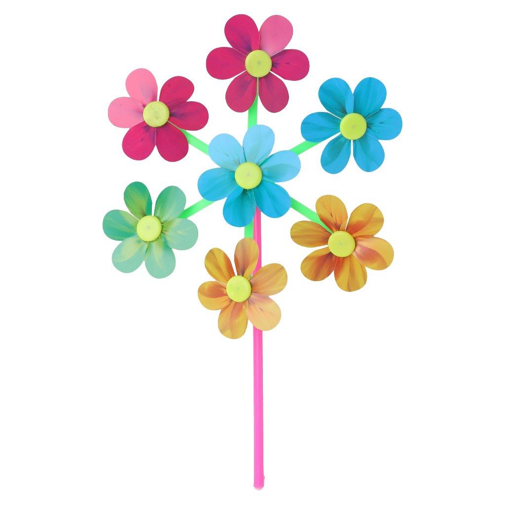 Tandou Blumenmuster Spinner Wind Windmühle Kinder Kinder Spielzeug Garten Hof Dekoration