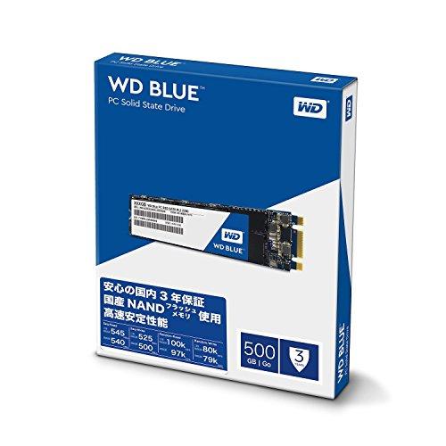 WD Blue 500GB PC SSD - SATA 6 Gb/s M.2 2280 Solid State Drive - WDS500G1B0B [Old Version] Thumbnail 3