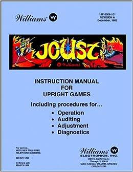 Joust Arcade Game Service & Repair Manual: Williams: Amazon