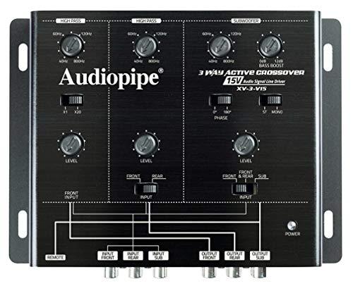 Audiopipe XV3V15 Active 3-Way 15-Volt Signal Splitter Audio Stereo Crossover