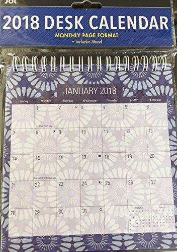 2009 Desk Calendar (JOT 2018 DESK CALENDAR MONTHLY PAGE FORMAT)
