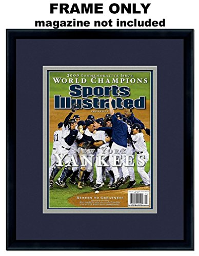 Yankees Sport Magazine - Sports Illustrated Magazine Frame - with New York Yankees Colors Double Mat