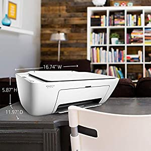 HP DeskJet 2655 All-in-One Compact Printer, HP Instant Ink & Amazon Dash Replenishment ready – White (V1N04A)