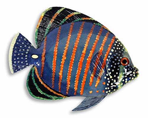 - LX Handpainted Tropical Fish Replica Wall Mount Decor Plaque Purple 7