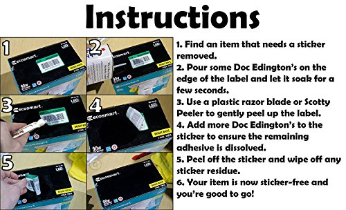 Doc Edingtons Scotty Peeler 10 Pack. Pro-Grade Label Scraper/Sticker Removal Tool Works Great & Safer Than Razor Blade Scrapers. Use This Plastic Scraper With Our Adhesive Remover for Best Results. by Doc Edington's (Image #6)