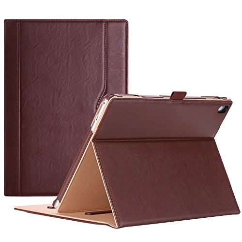 ProCase Lenovo Tab 4 10 Plus Case - Stand Folio Case Protective Cover for Lenovo Tab 4 10.1 Plus Android Tablet 2017 Release ZA2T0000US -Brown