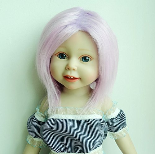 Doll Fur Wig (Handmade Purple Pink 11