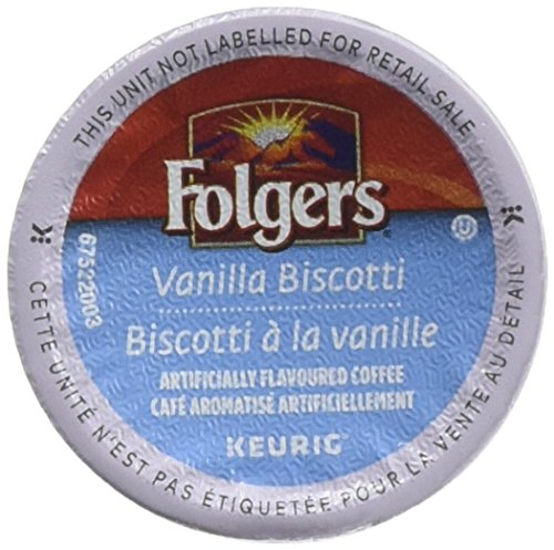 Folgers Vanilla Biscotti (4 Boxes of 24 K-Cups) (Vanilla Count 96 Cups K)