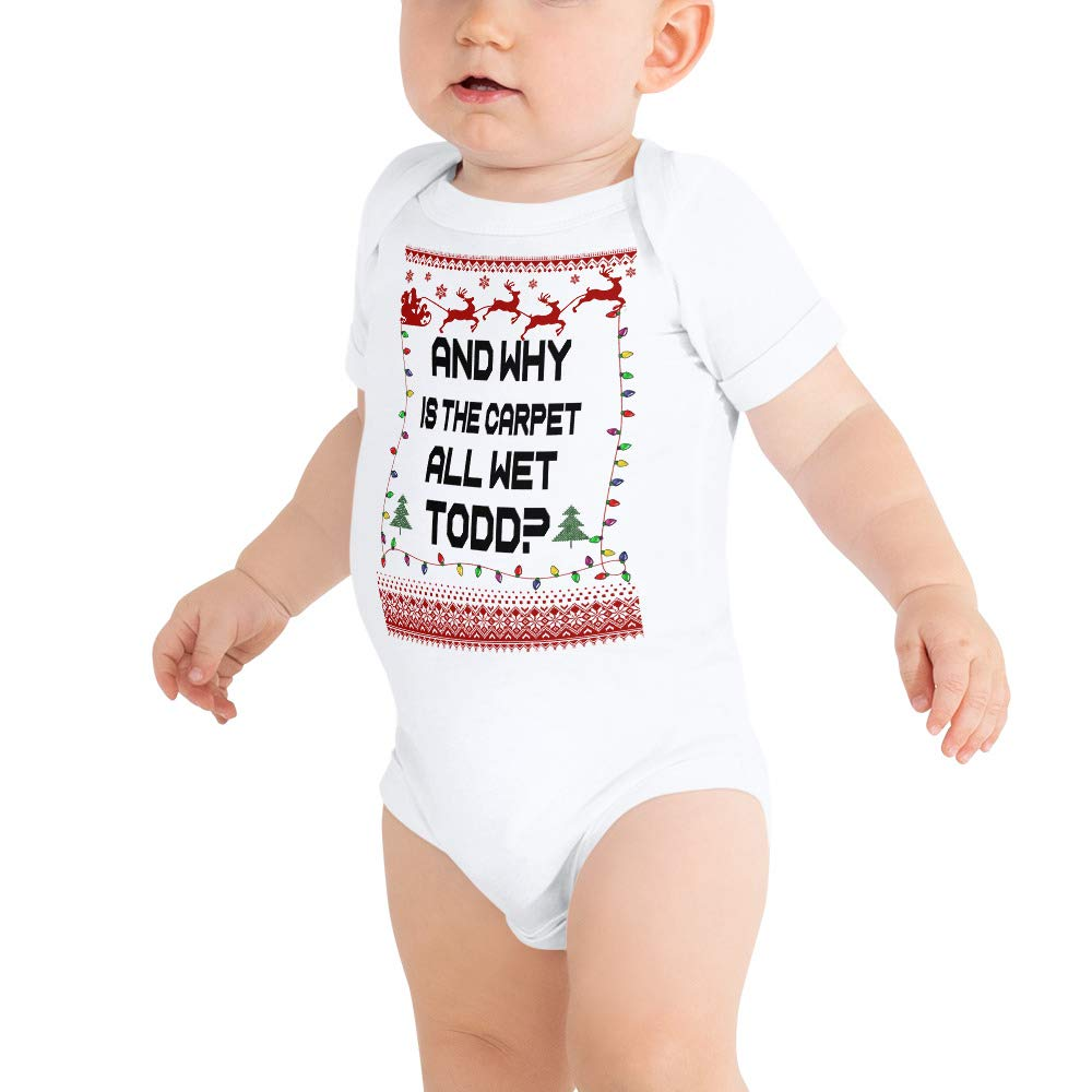 payatek and Why is The Carpet All Wet Todd Christmas Baby Bodysuits Baby Shirt