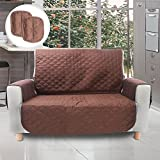 YOH Anti-Slip Washable Sofa Silpcover, Stylish Waterproof Cushion Cover Pet Dog Sofa Covers Furniture Protector, Couch Covers for Pets and Kids (Loveseat)