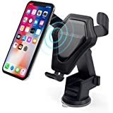 Wireless Car Charger. Easy Drop in for Dashboard & Windshield Car Mount Phone Holder for iPhone X 8 Plus 7 6s SE Samsung Galaxy S9 S8 Edge S7 S6 Note 8 & other Smartphones