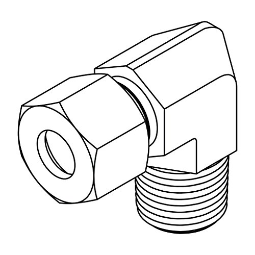 Tompkins Industries Mc6071 L22 12 Metric Compression Male Stud Elbow