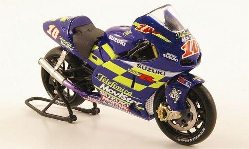 No.10 IXO 1:24 Telefonica Movistar MotoGP Modellauto Suzuki GSV-R Fertigmodell 2002