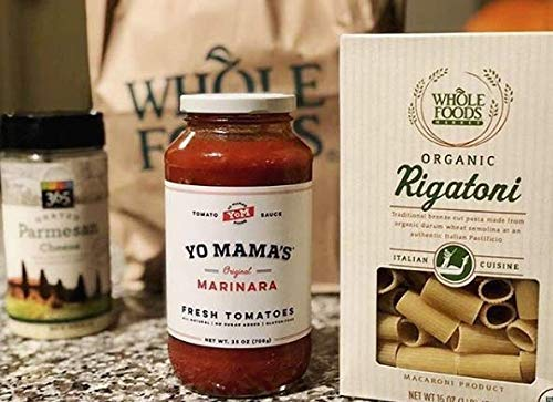 Keto Marinara Pasta Sauce by Yo Mama's Foods - Pack of (2) - No Sugar Added, Low Carb, Low Sodium, Gluten Free, Paleo Friendly, and Made with Whole, Non-GMO Tomatoes.