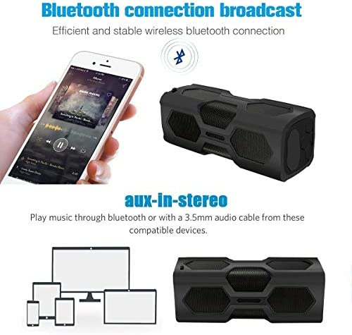 Waterproof Bluetooth Speaker, NovPeak Portable Outdoor Speakers Bluetooth 4.2 with 1800mAh Power Bank, NFC Function, IPX4 Waterproof, Shockproof, Dust Proof for Travel, Outdoors, Home and Party