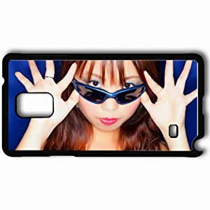 Personalized Samsung Note 4 Cell phone Case/Cover Skin Asian Black Eyes Brunette Glasses Black