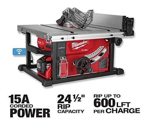 Milwaukee 2736-20 M18 Fuel ONE-Key 8-1/4 in. Table Saw, Tool Only – Battery, Charger NOT Included